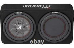 Kicker 43TCWRT102 10 CompRT 400-Watt 2-Ohm Thin Loaded Enclosure