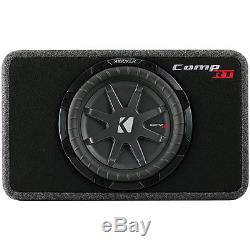 Kicker 43TCWRT102 400W RMS CompRT Series 10 Sealed Loaded Subwoofer Enclosure