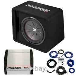Kicker 43VCWR122 12 500W CompR Loaded Enclosure with 40KX400.1 Sub Amplifier
