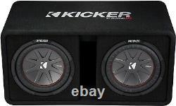 Kicker 43dcwr102 Car Dual/pair 10 Subwoofers Loaded Vented Enclosure/box 2-ohm