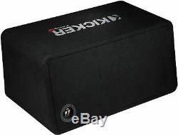 Kicker 43dcwr102 Car Dual/pair 10 Subwoofers Loaded Vented Enclosure/box 2-ohm