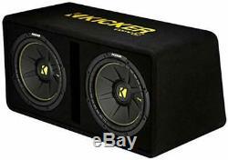 Kicker 44DCWC122 Dual 12-Inch 1200 Watt Loaded Subwoofer Enclosure