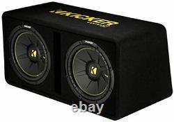 Kicker 44DCWC122 Loaded Dual Subwoofer Enclosure Dual 12 In 1200 Watt 2 Ohm NEW