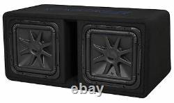 Kicker 44DL7S122 Dual 12 3000w L7 Solo-Baric L7S Loaded Sub Enclosure+CXA Amp