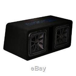 Kicker 44DL7S122 Dual 12 L7S 2-Ohm Loaded Vented Subwoofer Enclosure
