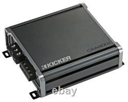 Kicker 44TCWC104 10 CompC Loaded Subwoofer Enclosure & CXA800.1 Sub Amplifier