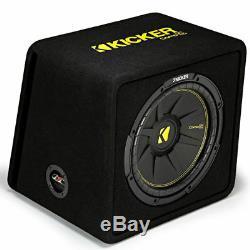 Kicker 44vcwc122 Car Audio Sub 12 Subwoofer Enclosure Loaded Box 2-ohm Vcwc122