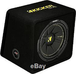 Kicker 44vcwc124 Car Audio 12compc Subwoofer Enclosure Loaded Box 4-ohm Vcwc124