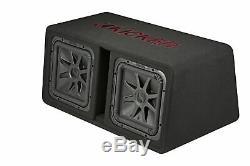 Kicker 45DL7R122 Dual 12 L7R 2 Ohm Loaded Vented Enclosure 1200 Watts RMS