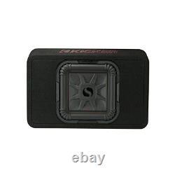 Kicker 46TL7T102 Car Audio L7T Loaded Square 10 Thin Sub Box Enclosure 2 Ohm