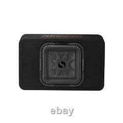 Kicker 46TL7T102 L7T Loaded Square 10 Sub Box Enclosure 2 Ohm Refurbished