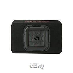 Kicker 46TL7T104 Car Audio L7T Loaded Square 10 Thin Sub Box Enclosure 4 Ohm