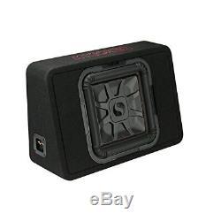 Kicker 46TL7T124 Car Audio L7T Loaded Square 12 Thin Sub Box Enclosure 4 Ohm