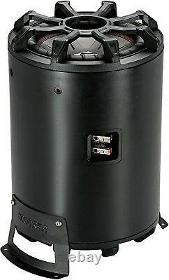 Kicker 46cwtb84 Car Audio 8 Tb Loaded Subwoofer Enclosure Tube 4-ohm Cwtb84