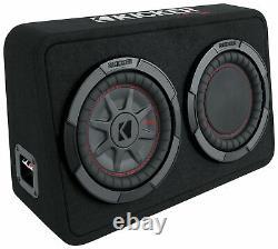 Kicker 48TCWRT82 COMPRT8 8 600W Loaded Shallow Subwoofer+Mono Amplifier+Amp Kit