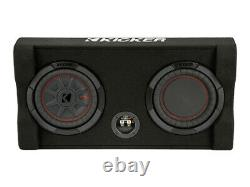 Kicker 48TRTP82 Down-Firing 8 inch CompRT 2-Ohm Thin Profile Loaded Enclosure