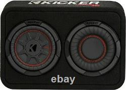 Kicker 48tcwrt672 Car/truck 6.75 Comprt Boxed Subwoofer Loaded Enclosure 2-ohm