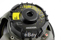 Kicker Car Audio 12 Loaded Custom Truck Sub Box Enclosure With C12 Subwoofer