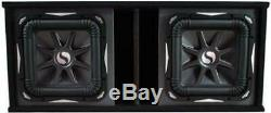 Kicker Car Audio Loaded Sub Box With Dual 15 L7 Series S15L7 Premium Subwoofers