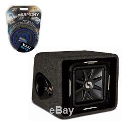 Kicker Car Audio VS12L7 12 L7 Subs Loaded Enclosure Box 2-Ohms 750W Amp Kit