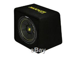 Kicker CompC 12 Subwoofer Loaded Vented Enclosure 300W RMS Sub Bass 2Ohm