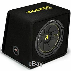 Kicker CompC VCWC124 300W RMS 12 Loaded Vented Subwoofer Enclosure Bass Box