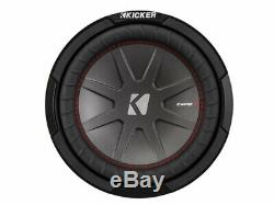 Kicker CompR CWR10 Triple 10 Subwoofer Loaded 1500 Watt Sub Box & HA-A1500.1 Amp
