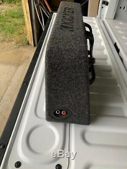 Kicker CompRT 800W 10 Inch Slim Loaded Audio Power Sealed Subwoofer Enclosure