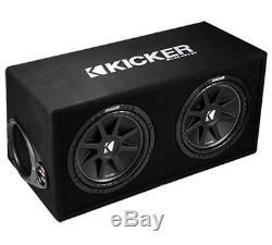 Kicker DC122 Car Audio Loaded Dual 12 Ported Comp 600W Sub Box Enclosure 43DC122