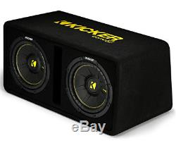 Kicker DCWC10 Car Audio CompC Ported Dual 10 Loaded Sub Box Enclosure 44DCWC102