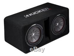 Kicker DCWR10 Dual 10 2-Ohm Loaded CompR Vented Sub Box with 900-Watt Amp Kit