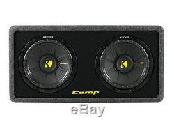 Kicker DCWS10-2 Loaded Dual 10 2-Ohm CompS Sub Package 600W Amp Amplifier Kit