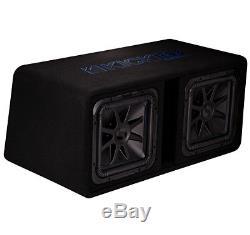 Kicker DL7S12 Car Audio Loaded L7 Solo Baric Square Dual 12 Sub Box 44DL7S122