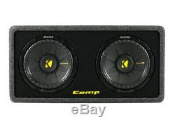 Kicker Dcws10 Dual Comps 10 Loaded Sub Woofer Enclosure Box 2-Ohm 40DCWS102 New