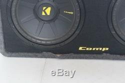 Kicker Dcws12 Dual Comps 12 Loaded Subwoofer Enclosure 2-Ohm 40DCWS122 PICKUP