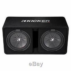Kicker Dual 43DCWR122 12-Inch 2000W Loaded Subwoofer Enclosure
