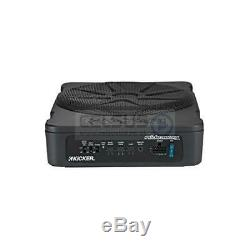 Kicker HS 10 Compact Powered Loaded bass Enclosure 180W RMS Underseat Hideaway