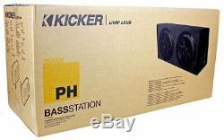 Kicker PHD12 Dual Loaded 12 Subwoofer Carpeted Enclosure with 200-watt Amp