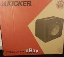 Kicker VCWR12 Single 12 2-Ohm Loaded CompR Vented Sub Box