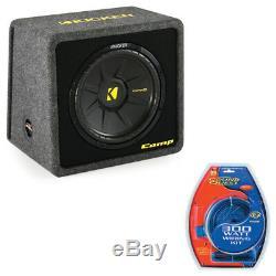 Kicker VCWS12 12 Single Sub Box Loaded Enclosure with 300 Watt Amplifier Kit