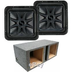 Loaded Dual Kicker 44L7S122 Car Audio Solo-Baric 12 Subwoofer Box Sub Enclosure
