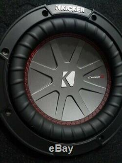 Loaded Kicker 43CWR84 8 300-Watt DVC Subwoofer Kenwood Enclosure box ported