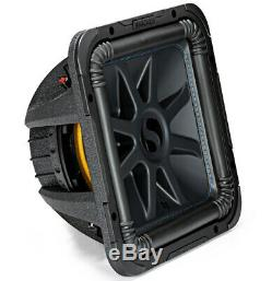 Loaded Kicker 44L7S122 Car Audio Solo-Baric 12 Subwoofer Box 750W Sub Enclosure