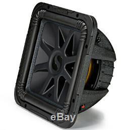 Loaded Kicker 44L7S124 Car Audio Solo-Baric 12 Sub Box and 43CXA6001 Amp Bundle