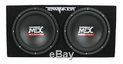 MTX 12 1200W Dual Loaded Car Subwoofer Audio with Sub Box + Amplifier (Open Box)
