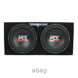 MTX 12 1200W Dual Loaded Car Subwoofer Audio with Sub Box + Amplifier (Used)