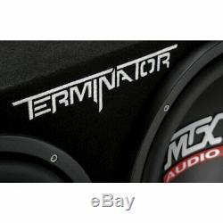 MTX 12-Inch 1200-Watt Car Audio Dual Loaded Subwoofer Box Enclosure (2 Pack)