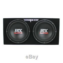 MTX 12-Inch 1200-Watt Car Audio Dual Loaded Subwoofer Box Enclosure (Open Box)