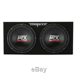 MTX 12-Inch 2000-Watt Dual Loaded Subwoofer Enclosure with Amplifier (Open Box)