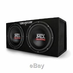 MTX 12-Inch 2000-Watt Max Car Audio Dual Loaded Subwoofer Box Enclosure (2 Pack)